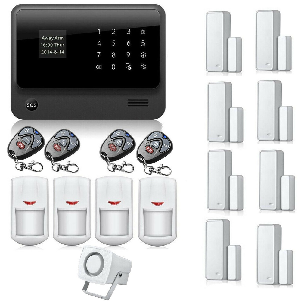 G90B WiFi GSM GPRS Wireless Home Security Alert System IOS Android APP Control(PIR*4+D/W Sensor*8+Key*4)