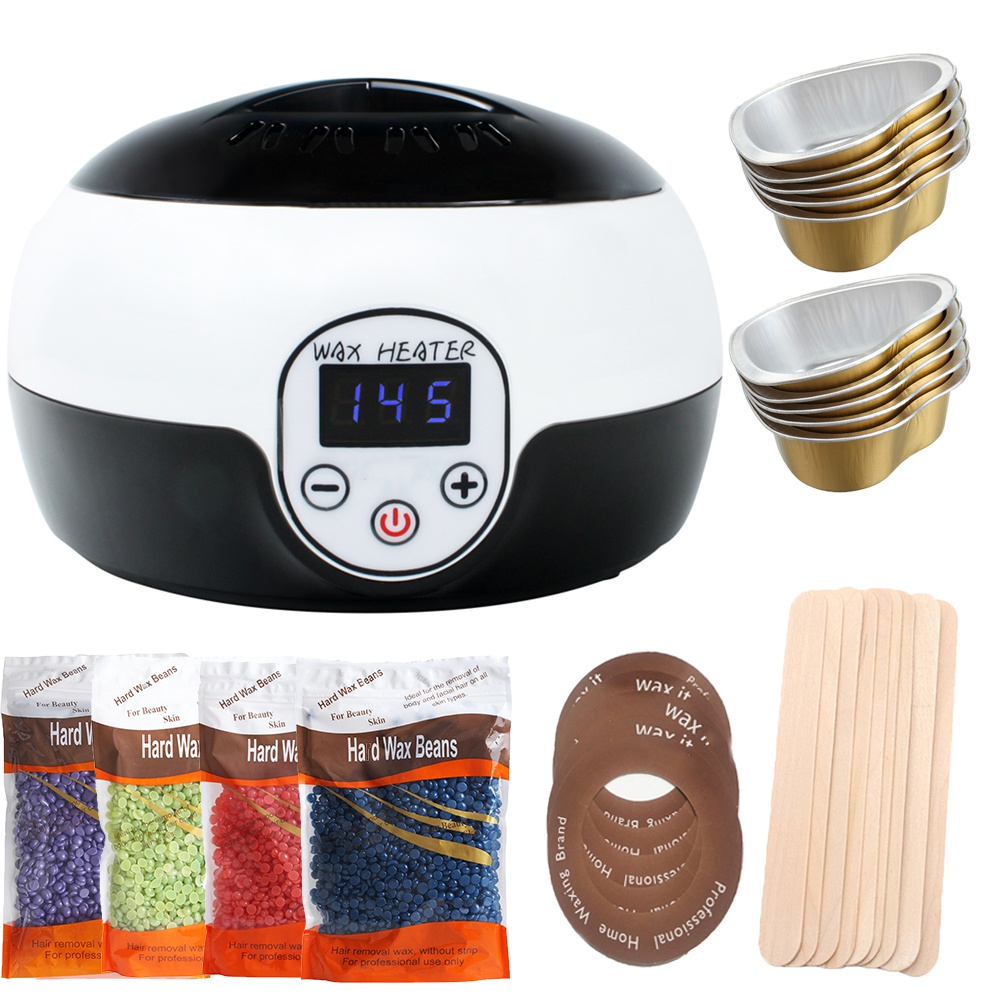 500cc Wax Warmer Heater Hair Removal Depilatory LCD Display Smart Waxing Machine