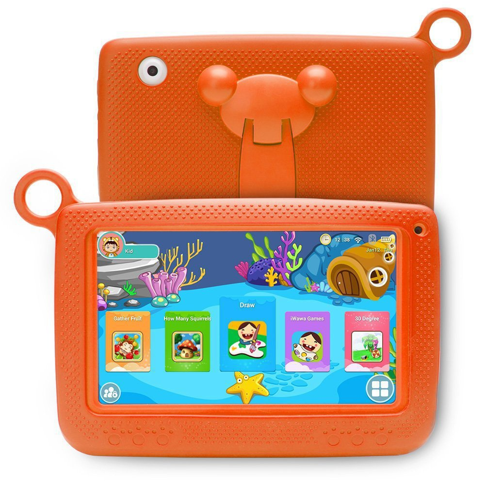 "Orange Kids 7"" Tablet PC 8GB Android Wifi Quad Core Educational Apps Best Gift"