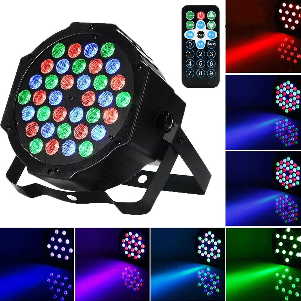 36LED Par Lights for Stage Lighting with RGB Magic Effect by Remote&DMX Control