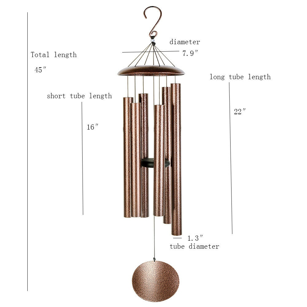 LARGE Metal Tube Deep Tone Resonant Bass Sound CHURCH Bell Wind chime