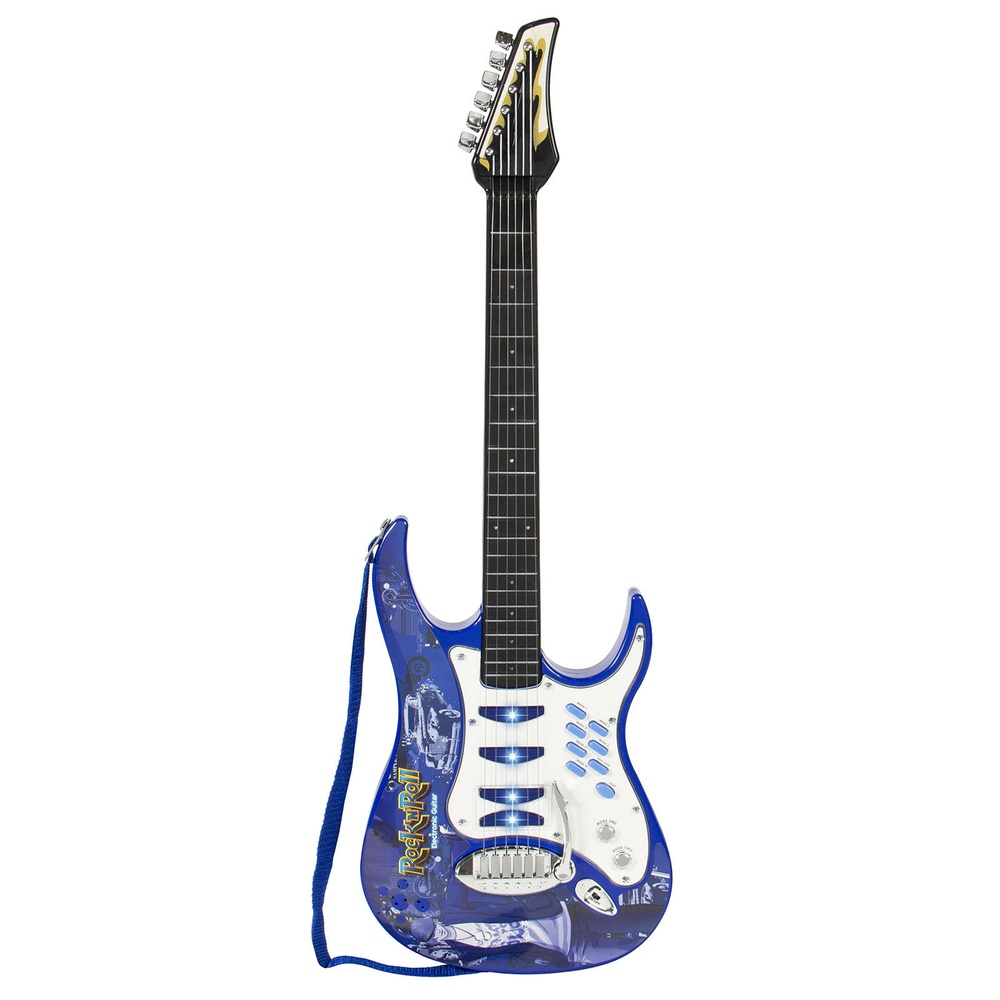 Blue Electric Guitar Set with MP3 Player Learning Toys Microphone, Amp for Boys' Birthday Gift