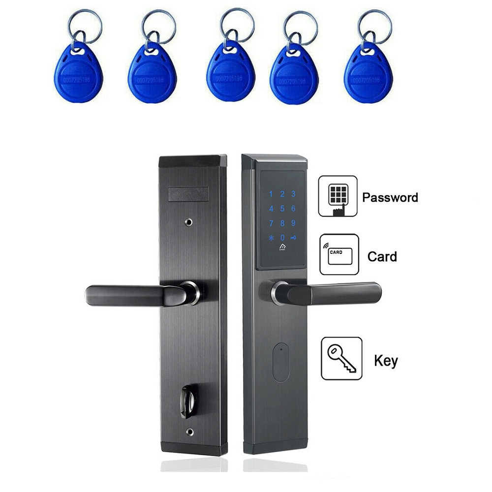 iMeshbean Right Push Electronic Smart Password Door Lock Keypad Touch Screen &5 RFID Cards