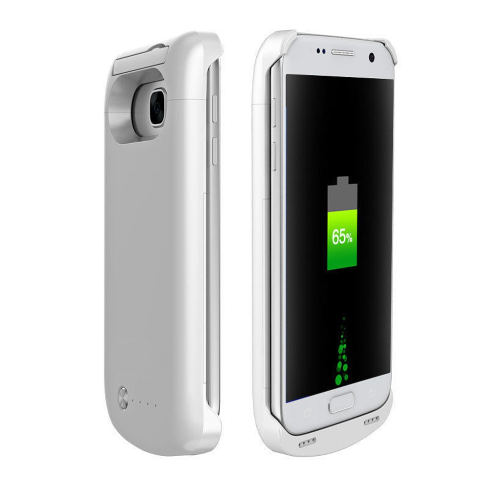 White 5200 mAh Power Bank For Samsung Galaxy S7 edge External Battery Backup Case Charger
