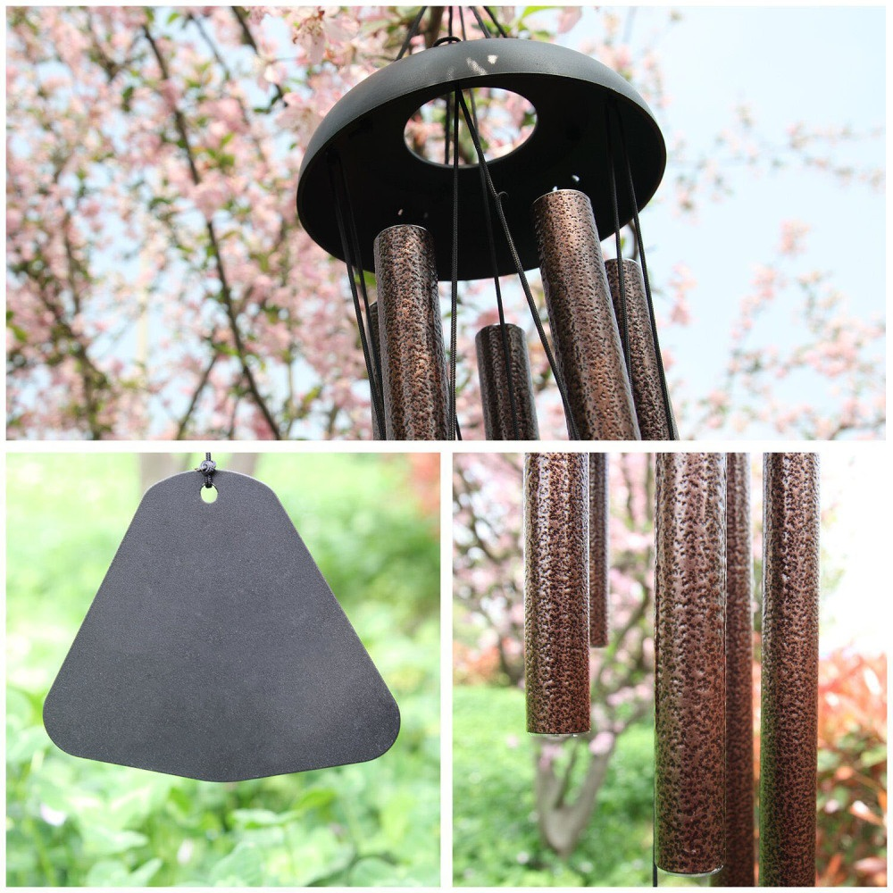 "Large 36"" Metal Tube Deep Tone Resonant Bass Sound CHURCH Bell Windchime"