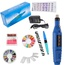 Blue Pen Shape Electric Nail Drill Manicure Filer Kit Nail Polishing Machine Set + wheel+ French tip