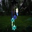 Snowflakes Solar Wind Chimes with Color Changing LED Lights