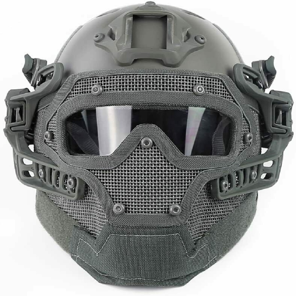 Airsoft Paintball Tactical Fast Helmet Goggles & G4 System Games Full Face Mask