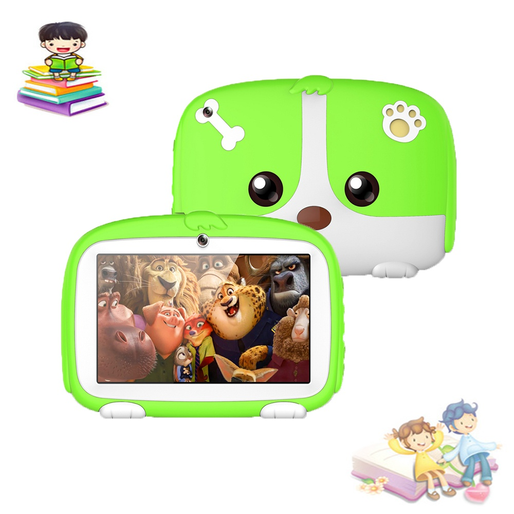 "Green 7"" Tablet for Kids 8GB Android 6.1 Wifi Quad Core Educational Apps Best Gift"