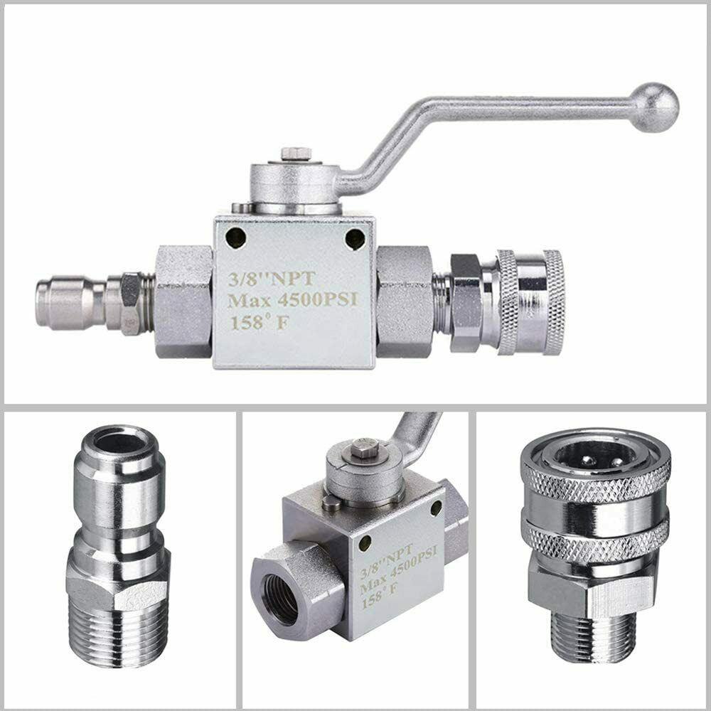 "3/8"" Ball Valve for Pressure Washers Max 4500 PSI 3/8"" fitting Female Out"