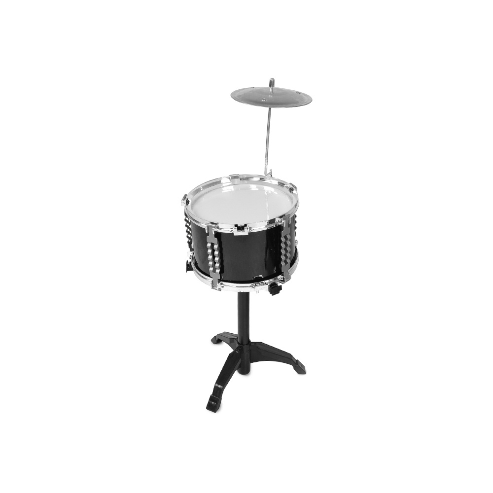 6 Pcs Kids Toys Black Drum Set with Stool Drumsticks Musical Instrument for Kid Leaning