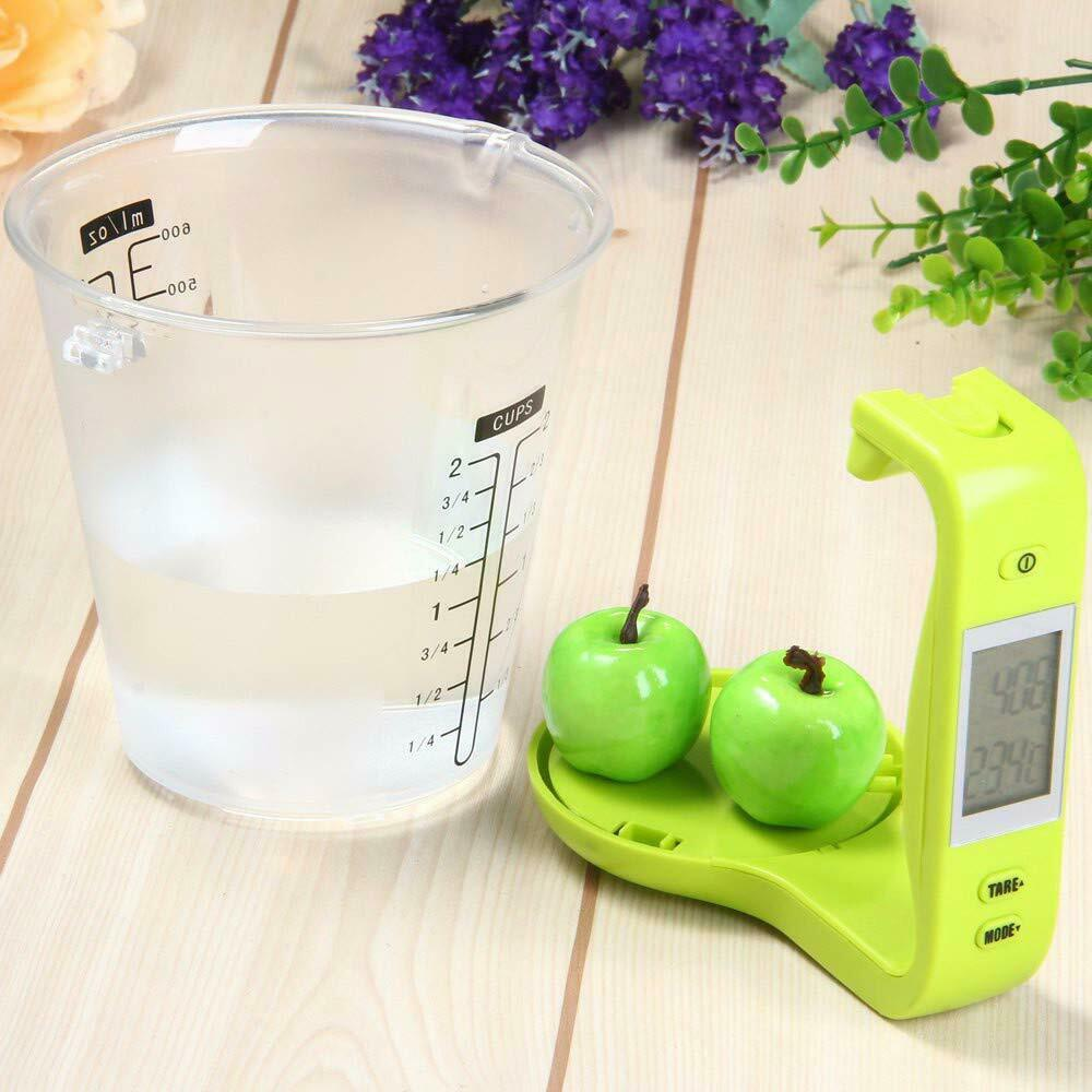 LCD Screen Multi-Functional Digital Kitchen Scale Measuring Cup 100-600ml 1000g