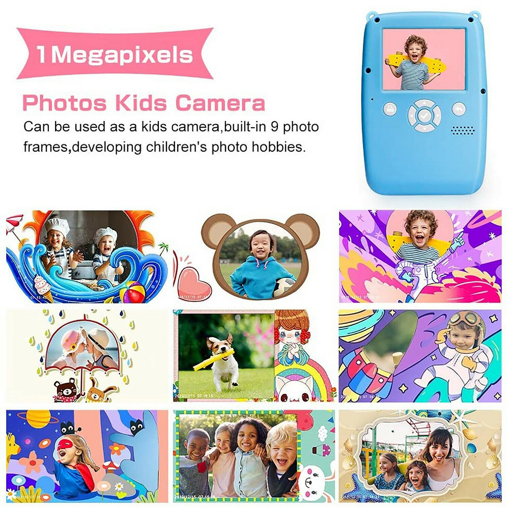 iMeshbean nstax 1080P LCD HD Kids Instant Poloroid Digital Camera+150 Film Sheets Kit